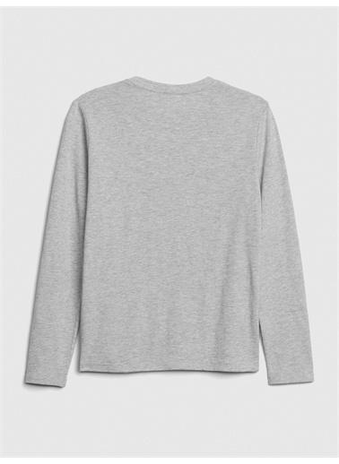 Gap Uzun Kollu Grafik T-Shirt Siyah
